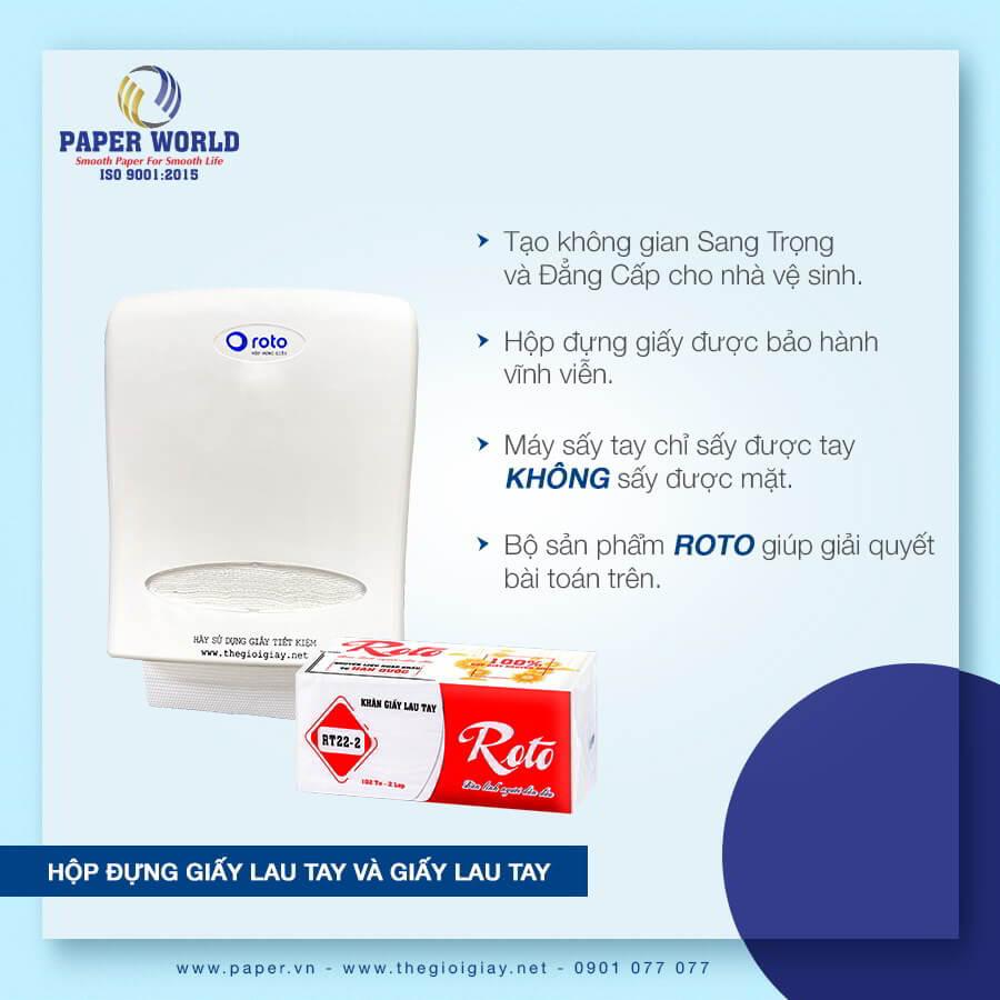 Sử dụng giấy lau tay RT22-2 kèm với hộp đựng tạo nên sự trang trọng, chỉnh chu