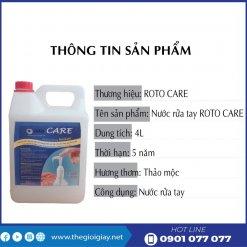 Thông tin sản phẩm xà bông rửa tay roto care500-thegioigiay.net
