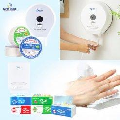 Bộ sản phẩm giấy cần thiết tại nhà vệ sinh các đơn vị