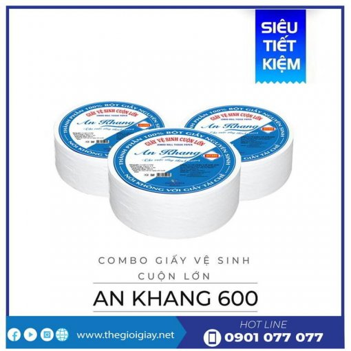 Mua giấy vệ sinh cuộn lớn AKC600