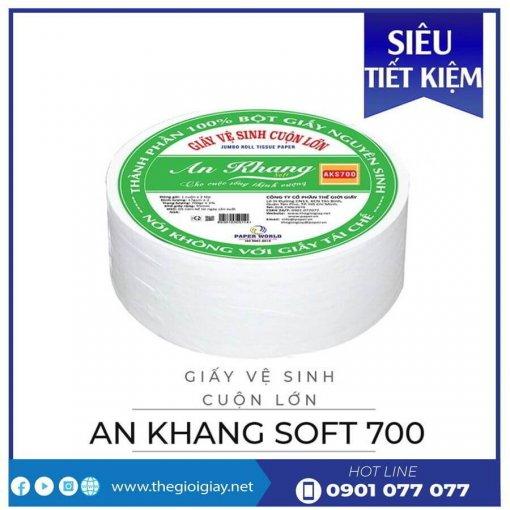Cung cấp giấy vệ sinh cuộn lớn an khang soft700-thegioigiay.net