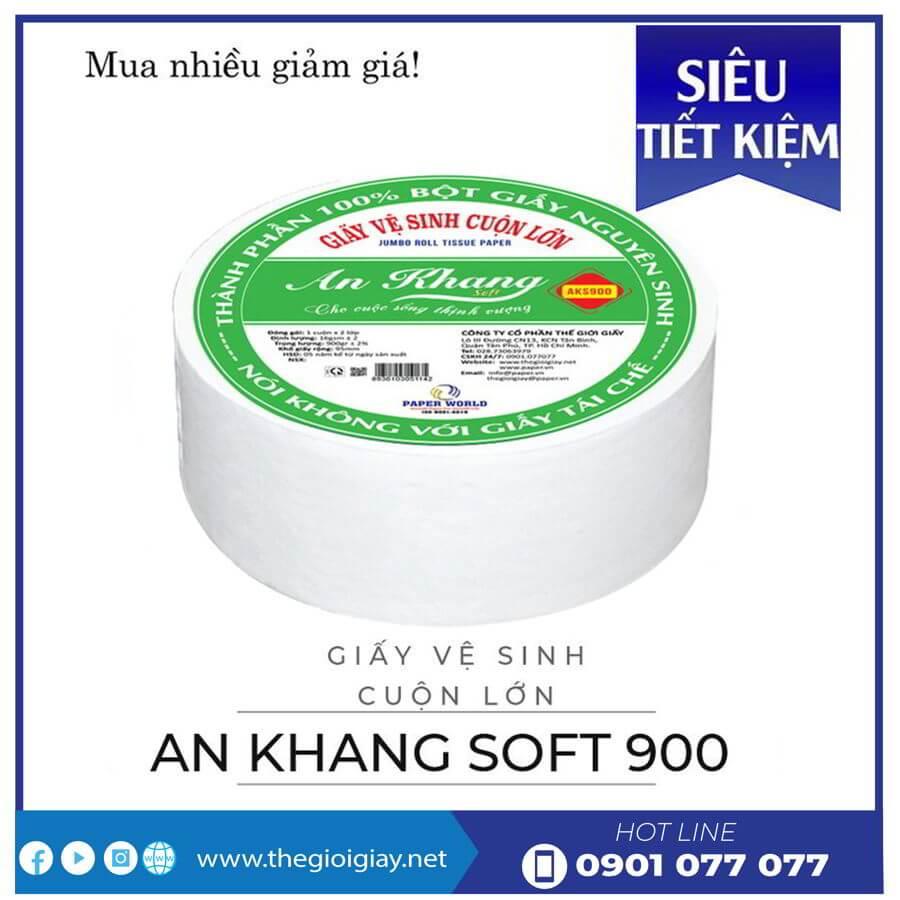 Cung cấp giấy vệ sinh cuộn lớn An Khang Soft900