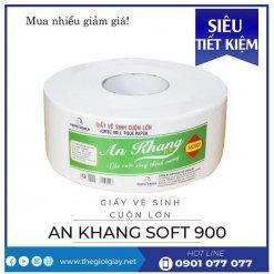 Cung cấp giấy vệ sinh cuộn lớn an khang soft900-thegioigiay.net
