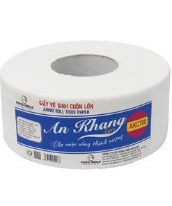 Giấy vệ sinh cuộn lơn an khang caro700