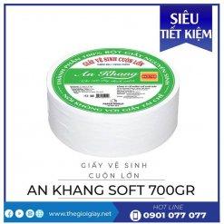 Giấy vệ sinh cuộn lớn An Khang soft700-thegioigiay.net