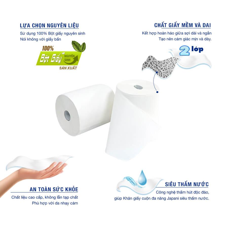 Giấy vệ sinh đa năng jp800m