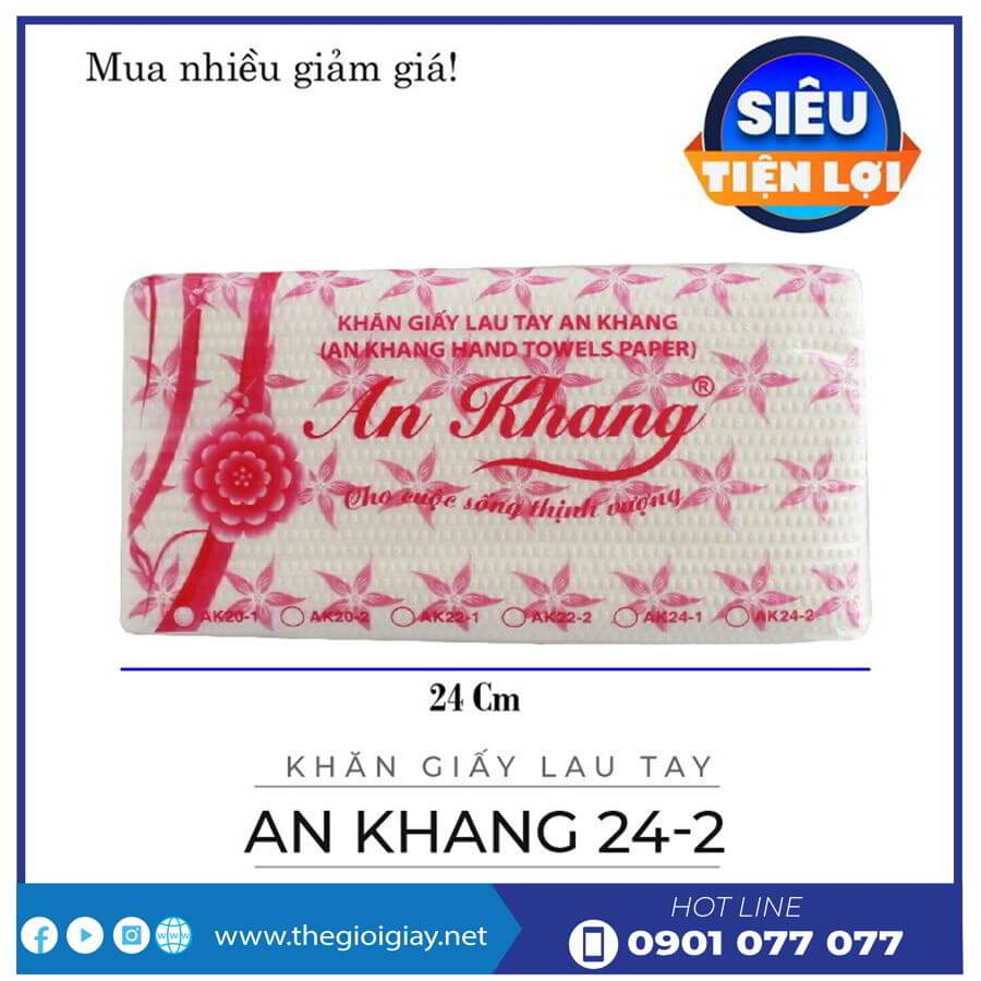 Khăn giấy lau tay An Khang 24-2-thegioigiay.net