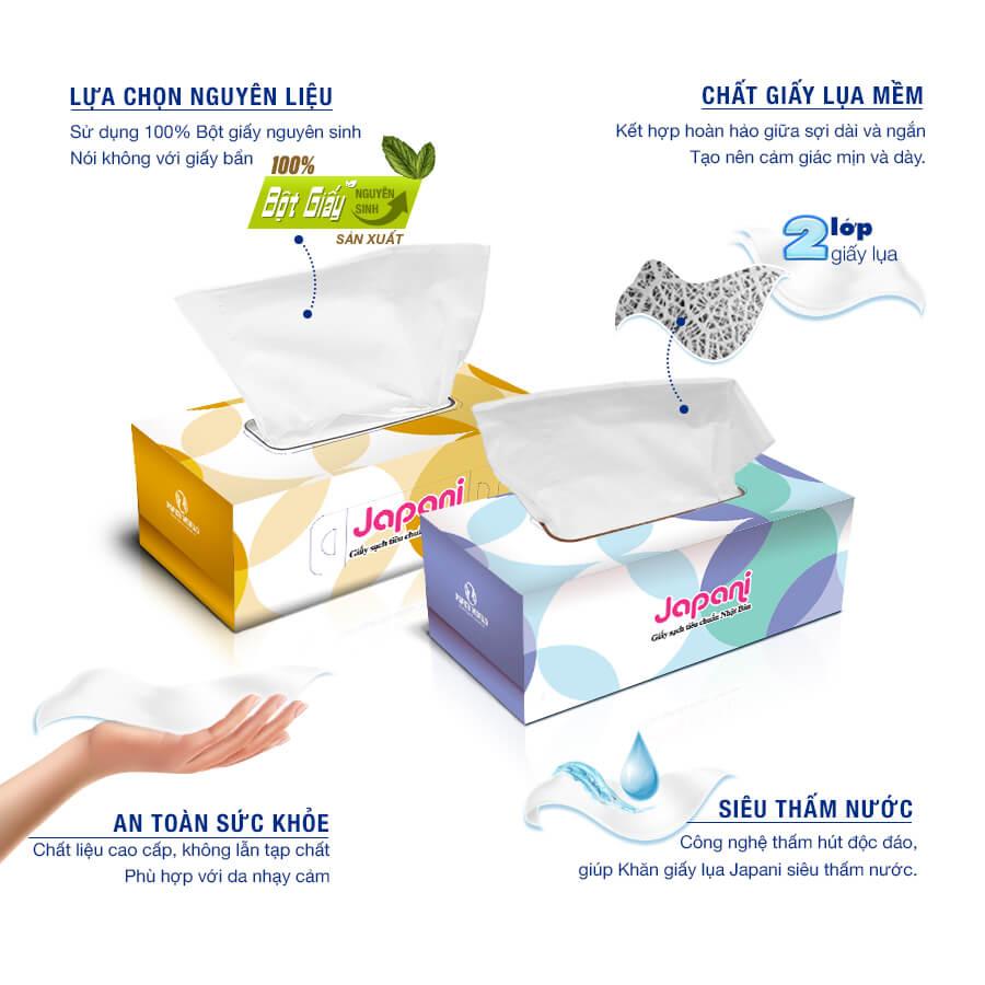 Cung cấp khăn giấy sạch hộp cao cấp jps180-thegioigiayvn.com