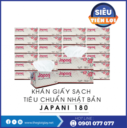 Cung cấp khăn giấy sạch hộp cao cấp jps180-thegioigiay.net