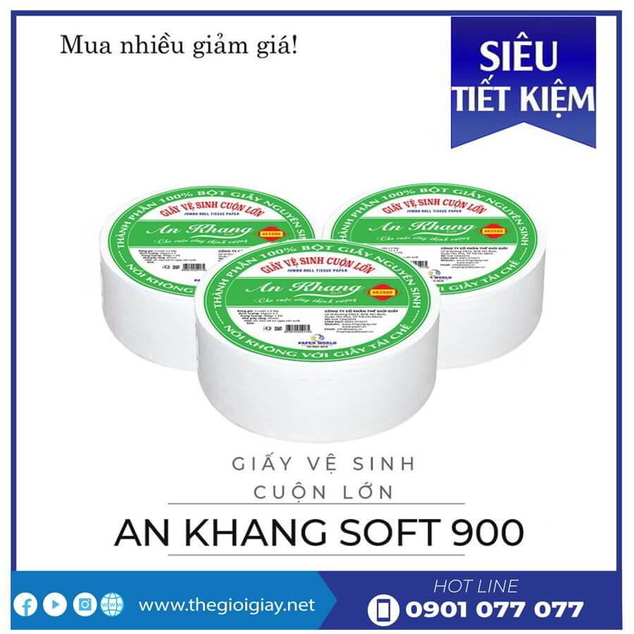 Mua giấy vệ sinh cuộn lớn An Khang Soft900 ở đâu