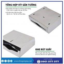 Tổng hợp vít gắn tường và khe rút giấy hộp roto1220I - thegioigiay.net