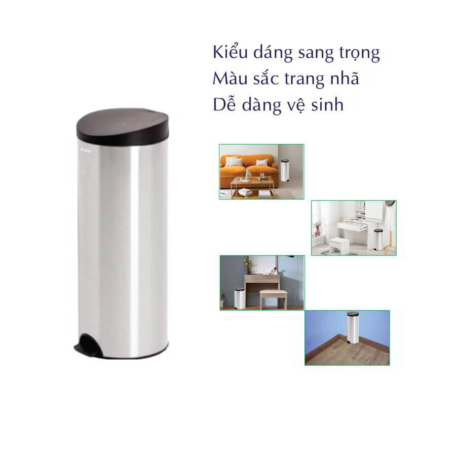 Đặc điểm Thùng rác inox RDTL9019
