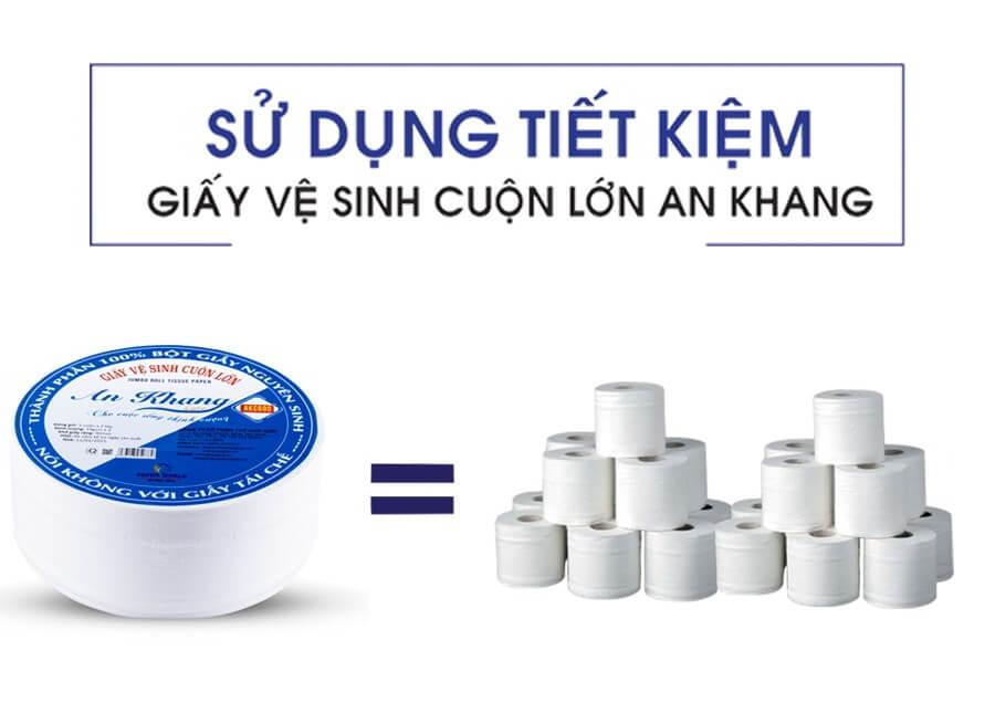Khả năng tiết kiệm từ việc sử dụng cuộn lớn thay vì cuộn nhỏ thông thường