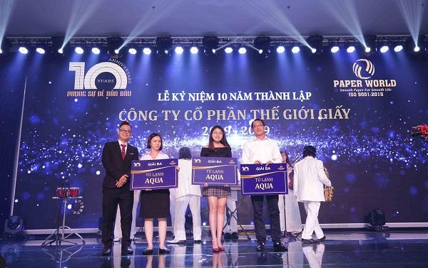 3 giải ba được trao tặng đến 3 vị khách may mắn tại chương trình