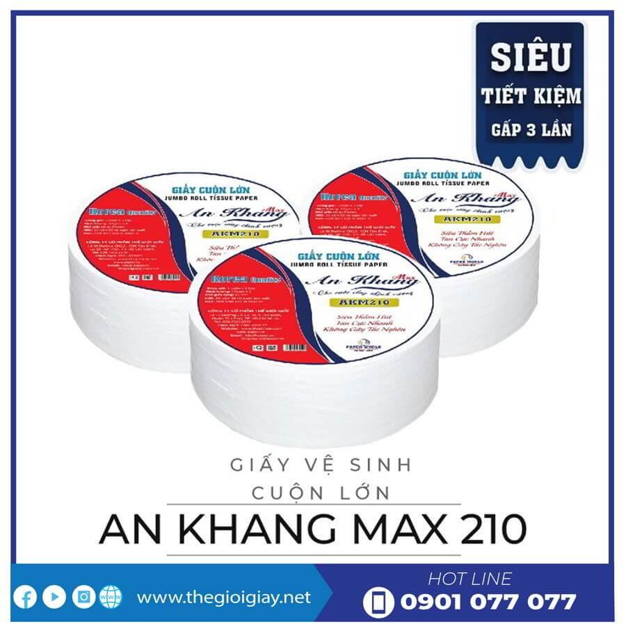Giấy cuộn lớn an khang max210-thegioigiay.net