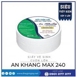 Giấy vệ sinh cuộn lớn An Khang Max240 - thegioigiay.net
