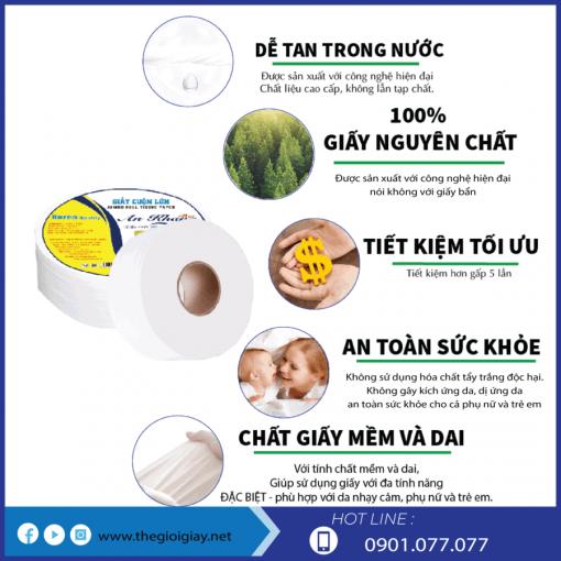 Ưu điểm của giấy vệ sinh cuộn An Khang max330-thegioigiay.net