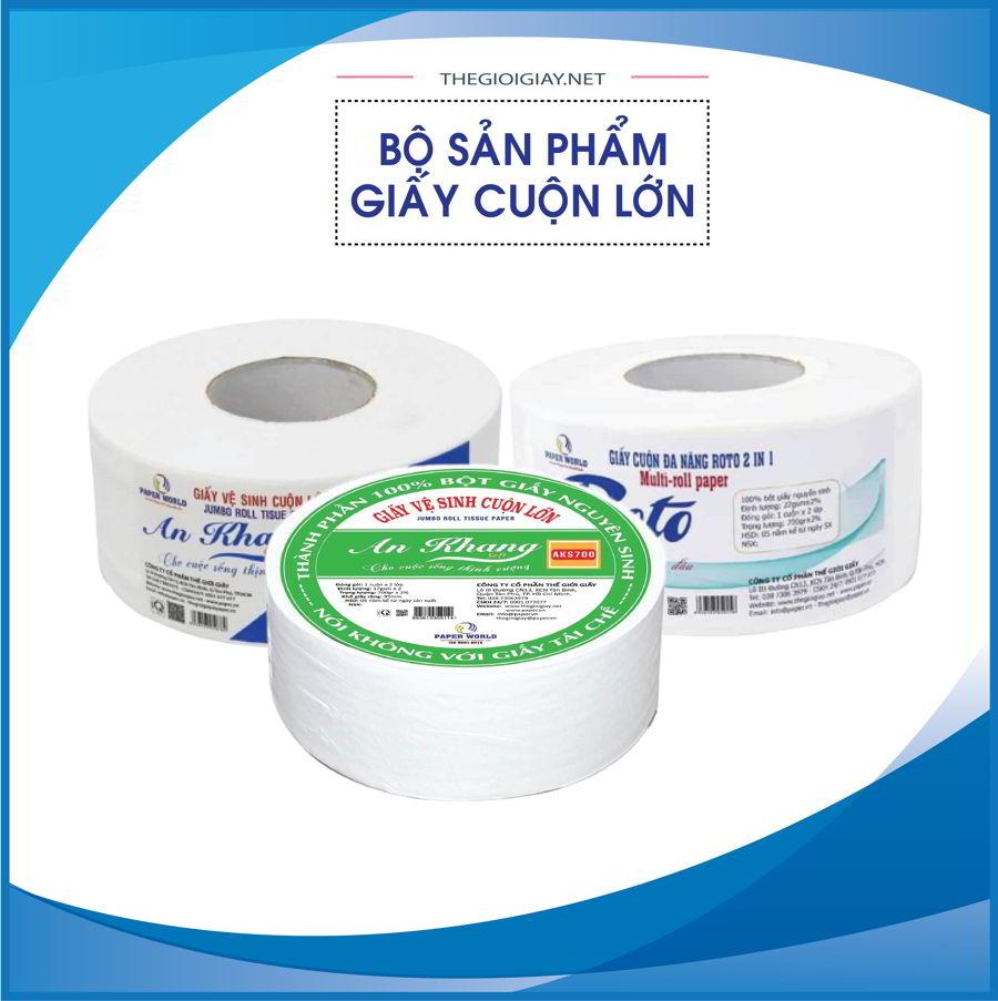 Các sản phẩm giấy vệ sinh cuộn lớn tại Thế Giới Giấy