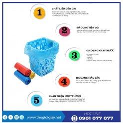 Công ty bạn túi rác màu eco - thegioigiay.net