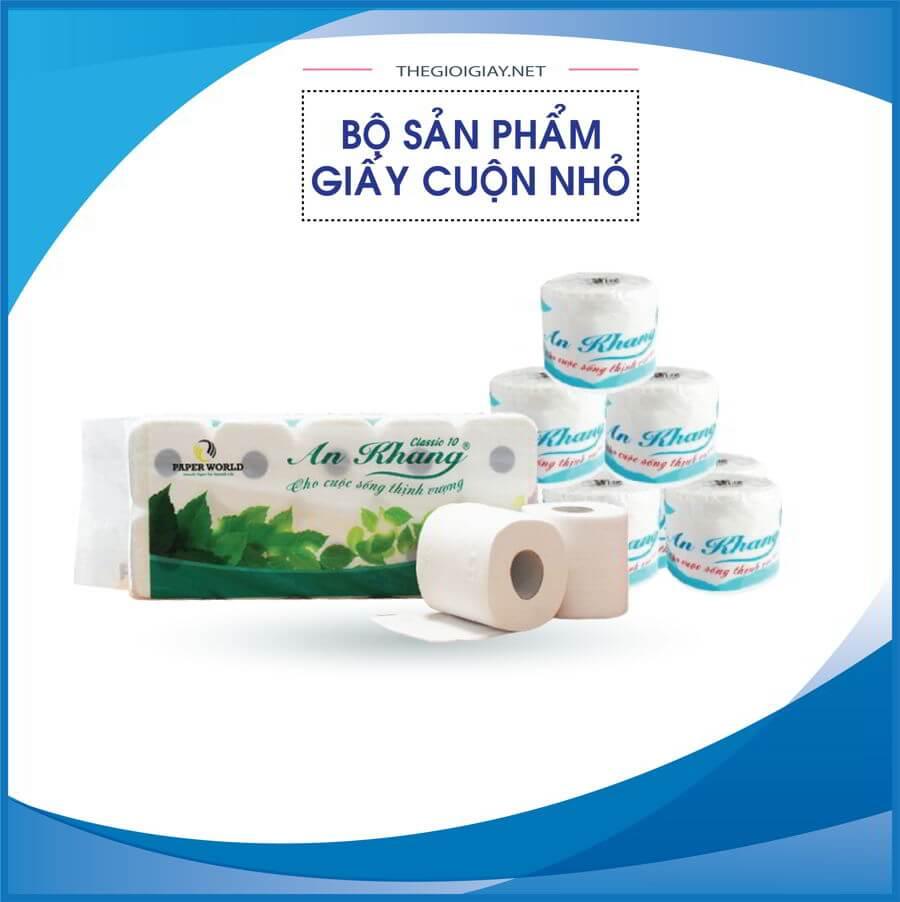 Các sản phẩm giấy vệ sinh cuộn nhỏ tại Thế Giới Giấy