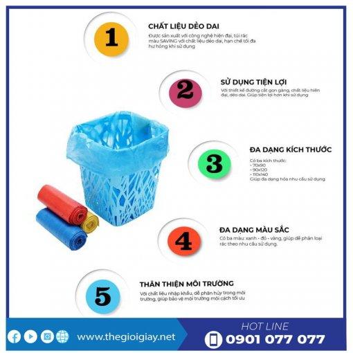 Đặc tính nổi bất khi sử dụng túi rác màu saving -thegioigiay.net