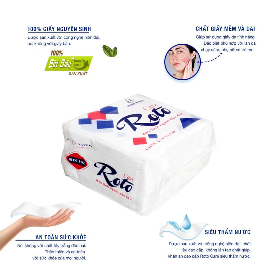 Mua khăn giấy ăn cao cấp roto care102-thegioigiay.net