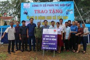 Thế Giới Giấy tặng bể bơi di động cho Xã Tào Sơn