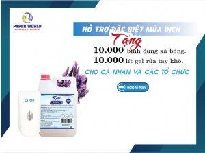 Tặng 10000 lít gel rửa tay khô miễn phí