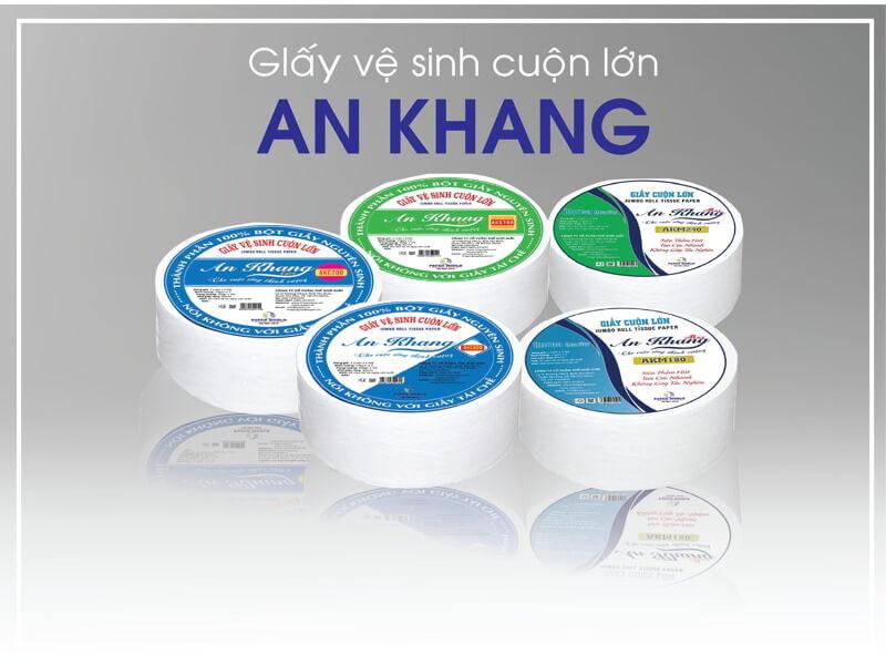 Các sản phẩm giấy cuộn lớn An Khang tại Thế Giới Giấy