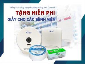 Thế Giới Giấy tặng giấy cho các bệnh viện trong công tác phòng chống dịch covid019