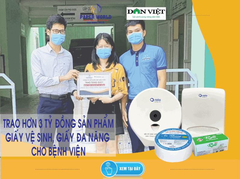 Hơn 3 tỷ đồng sản phẩm giấy trao tặng cho BV tại TPHCM, Đà Nẵng, Hà Nội phòng chống covid-19