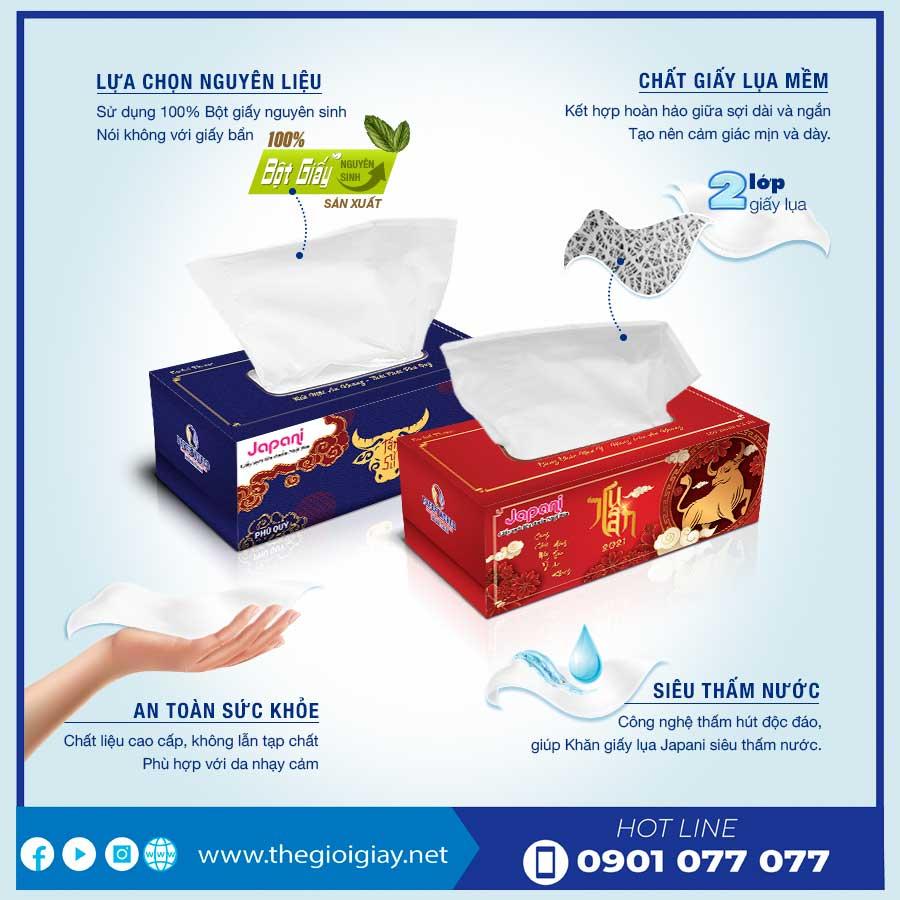 Hộp đựng giấy lụa tết 2021 chất lượng