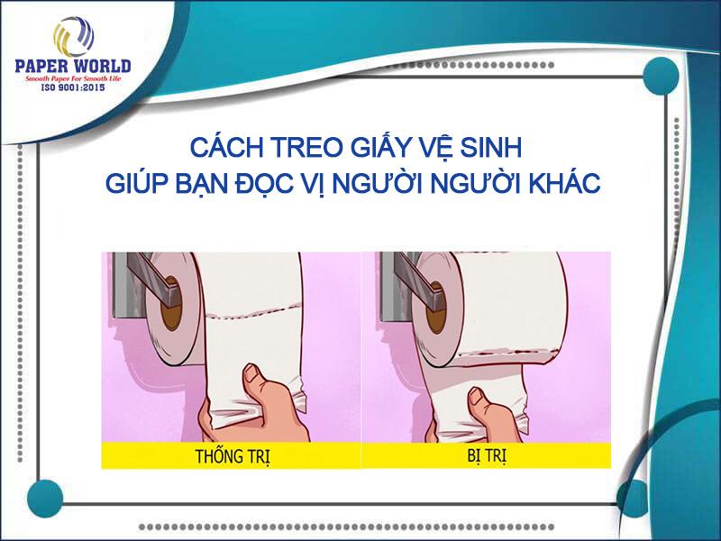cách treo giấy vệ sinh đọc vị được đối phươmg