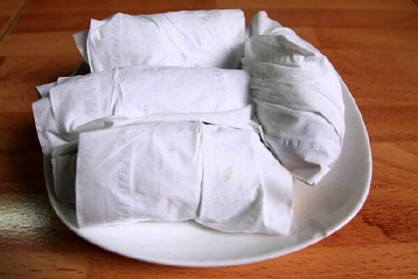 Cách nướng khoai với khăn giấy