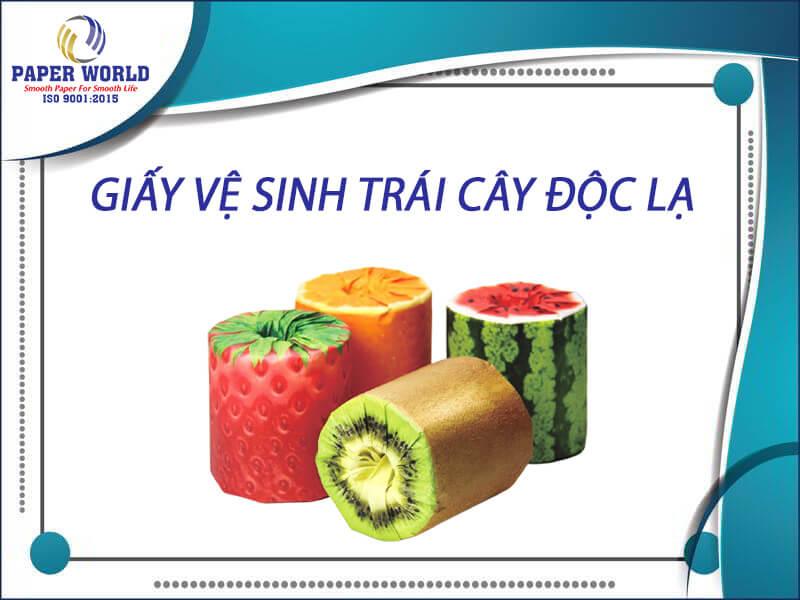 Giấy vệ sinh trái cây độc lạ