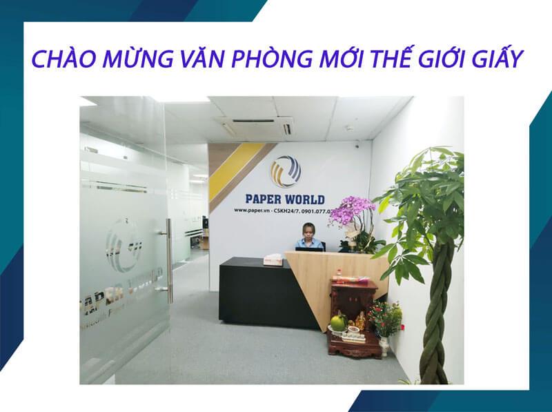 Chào mừng văn phòng mới thế giới giấy
