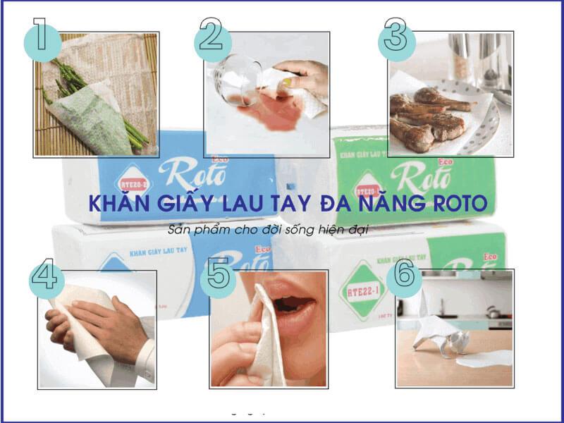 Công dụng của khăn giấy lau tay