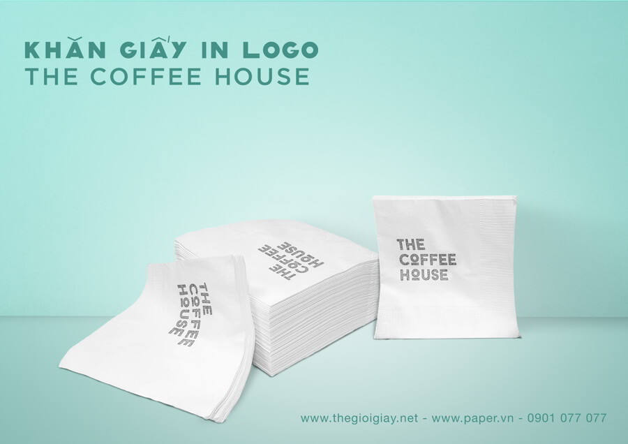 Khăn giấy in logo The Coffee House