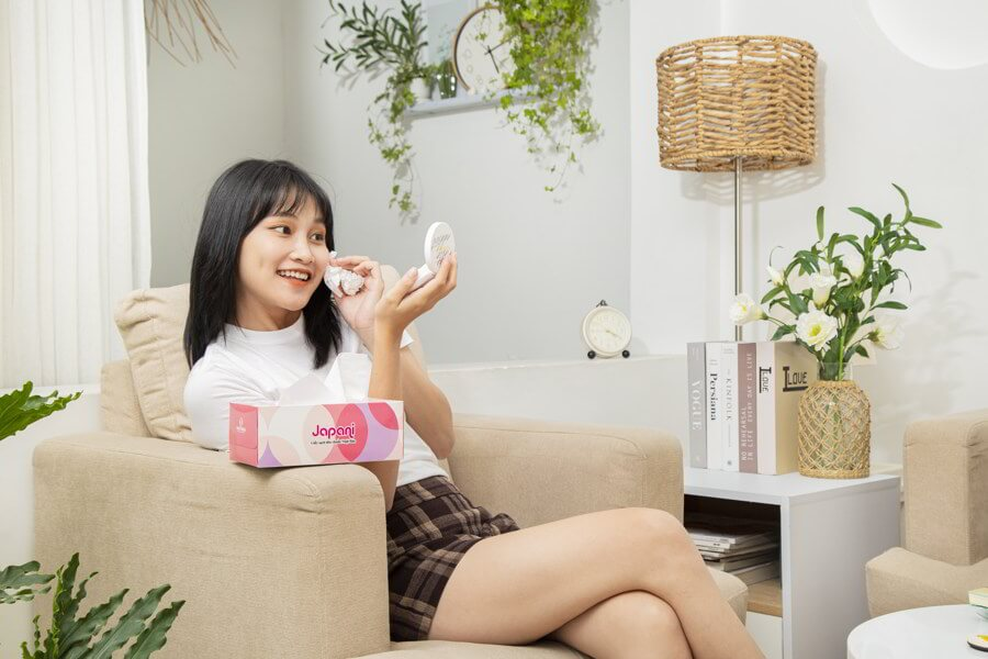 Hộp giấy lụa japani silk180 an toàn cho sức khỏe của người sử dụng