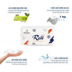 Ưu điểm Khăn giấy napkin roto soft400 siêu tiết kiệm