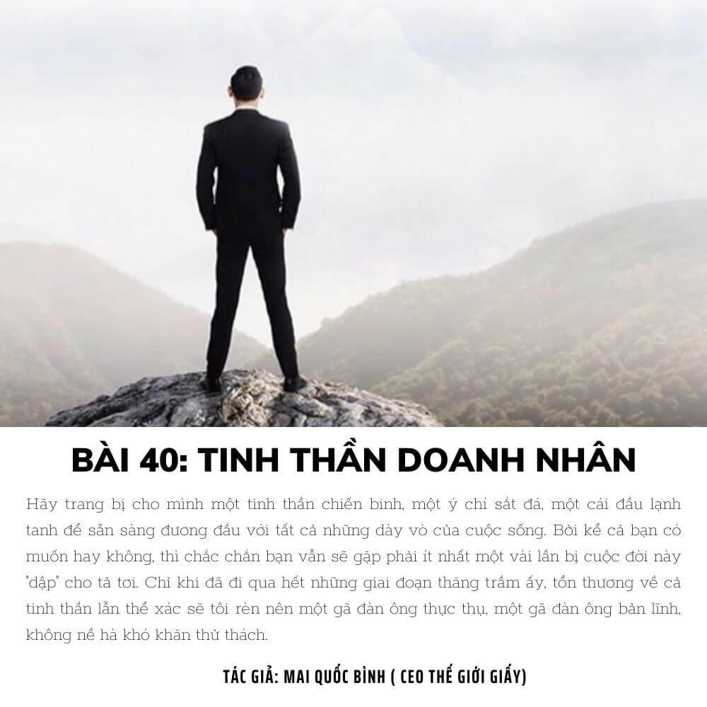 Bài 40: Tinh thần doanh nhân