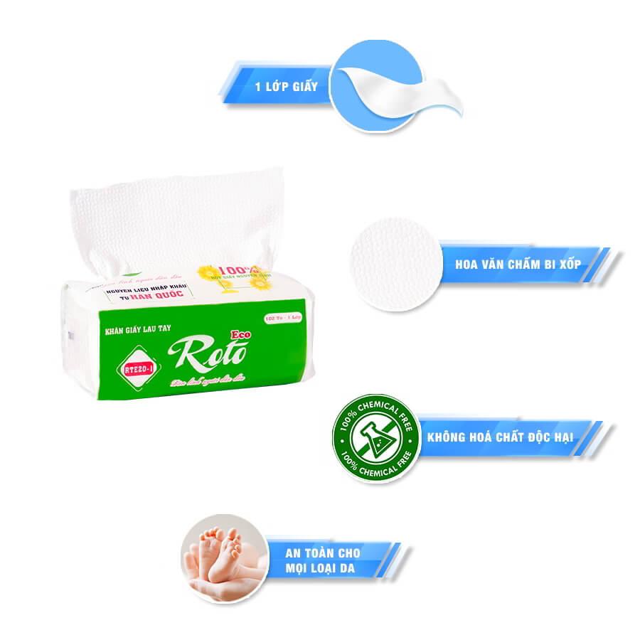 Đặc điểm khăn giấy đa năng Roto Eco 20-1