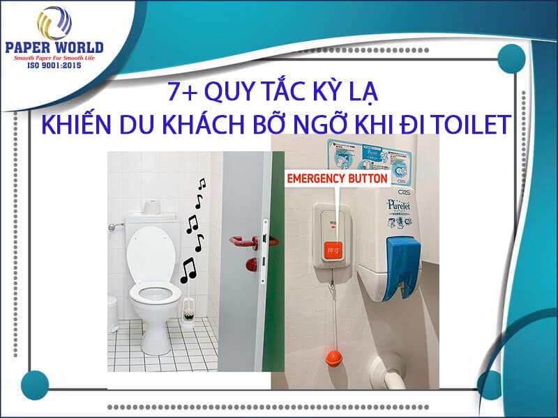 Quy tắc đi toilet khi đi du lịch