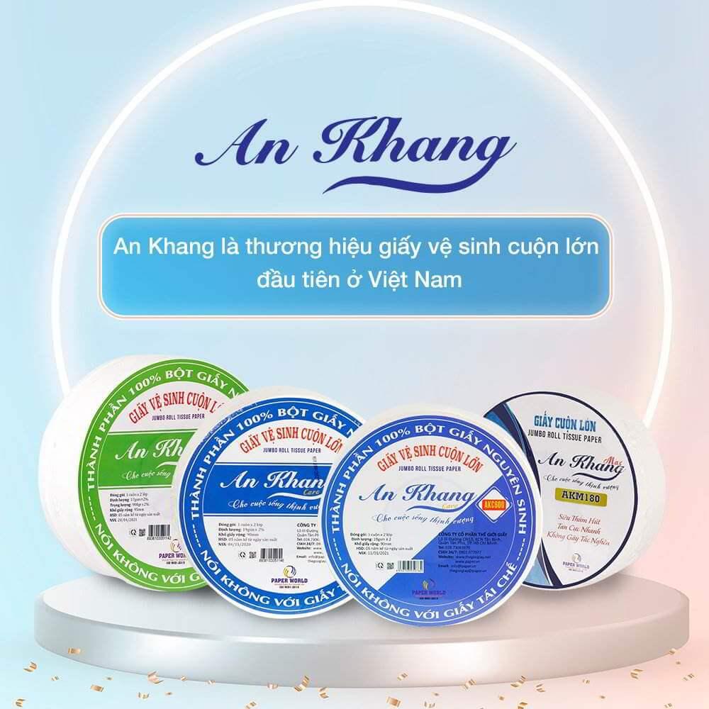 An Khang - giấy vệ sinh cuộn lớn đầu tiên ở Việt Nam