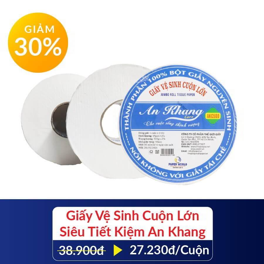 Giảm giá 30% giấy cuộn lớn An Khang khi mua combo hẻm nhỏ yêu thương