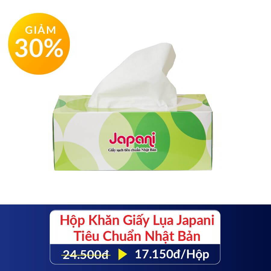 Giảm giá 30% hộp khăn giấy lụa Japani khi mua combo hẻm nhỏ yêu thương