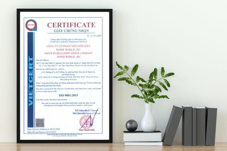 Giấy chứng nhận ISO 9001 : 2015